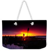 Sunset Cat Tail Weekender Tote Bag