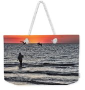 Sunset Fisherman Weekender Tote Bag