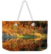 Sunset Glow On The Pond Weekender Tote Bag