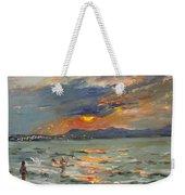 Sunset In Aegean Sea Weekender Tote Bag
