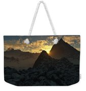 Sunset In The Stony Mountains Weekender Tote Bag