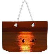 Sunset Kayakers Weekender Tote Bag