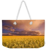 Sunset On A Canola Field Weekender Tote Bag