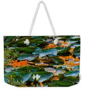 Sunset On A Lily Pond Weekender Tote Bag