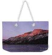 Sunset On Frozen Tenaya Lake Weekender Tote Bag
