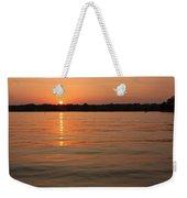 Sunset On Geist Reservoir In Lawrence In Weekender Tote Bag