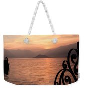 Sunset On Lake Como Weekender Tote Bag