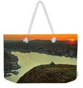 Sunset On St. John's Harbour Weekender Tote Bag