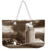 Sunset On The Farm S Weekender Tote Bag by David Dehner