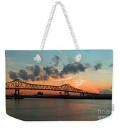 Sunset On The Mississippi  Weekender Tote Bag