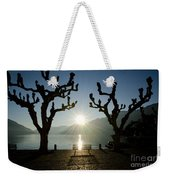 Sunset Over A Lake With Trees Weekender Tote Bag