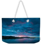 Sunset Over A River  Weekender Tote Bag