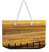 Sunset Over Beach In Winter Youghal Weekender Tote Bag