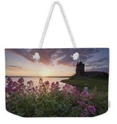 Sunset Over Dunguaire Castle, Kinvara Weekender Tote Bag