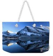 Sunset Over Many Glacier Lodge Weekender Tote Bag