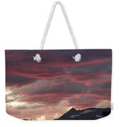 Sunset Over The Colorado Rocky Mountain Continental Divide Weekender Tote Bag