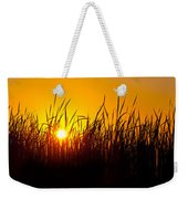 Sunset Over The Prairie Weekender Tote Bag