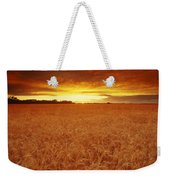 Sunset Over Wheat Field Weekender Tote Bag