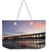 Sunset Pier San Simeon California 1 Weekender Tote Bag