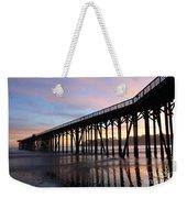 Sunset Pier San Simeon California 2 Weekender Tote Bag