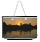 Sunset Pond Weekender Tote Bag