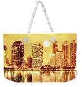 Sunset Scenes Of City Weekender Tote Bag