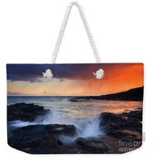 Sunset Storm Passing Weekender Tote Bag