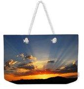 Sunset Sun Rays Weekender Tote Bag