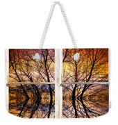 Sunset Tree Silhouette Colorful Abstract Picture Window View Weekender Tote Bag by James BO  Insogna