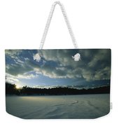 Sunset Viewed From The Frozen Surface Weekender Tote Bag