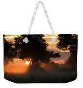 Sunset With Silhouetted Trees Weekender Tote Bag