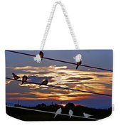 Sunsets And Birds Weekender Tote Bag