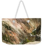 Sunshine On Grand Canyon In Yellowstone Weekender Tote Bag