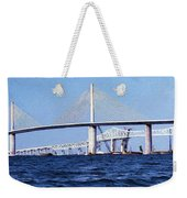 Sunshine Skyway Bridge II Weekender Tote Bag