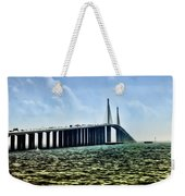 Sunshine Skyway Bridge - Tampa Bay Weekender Tote Bag