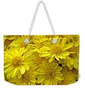 Sunshine Yellow Chrysanthemums Weekender Tote Bag