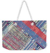 Surface Of Integrated Chip Weekender Tote Bag by Michael W. Davidson