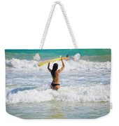 Surfer Girl Weekender Tote Bag