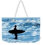 Surfer Silhouette Weekender Tote Bag by Carlos Caetano