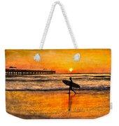 Surfer Silhouette Weekender Tote Bag