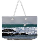 Surfing In Cornwall Weekender Tote Bag by Brian Roscorla
