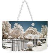 Surreal Michigan Infrared Nature - Dreamy Color Infrared Nature Fence Landscape Michigan Infrared Weekender Tote Bag