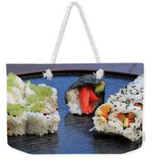 Sushi California Roll Weekender Tote Bag