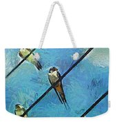 Swallows Goes To South Weekender Tote Bag