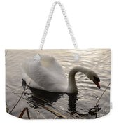 Swan Along The Shore Weekender Tote Bag