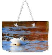 Swan Gold And Blue Weekender Tote Bag