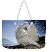 Swan In Backlight Weekender Tote Bag