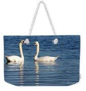 Swan Mates Weekender Tote Bag by Sabrina L Ryan