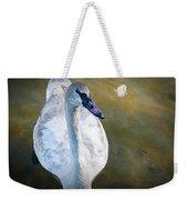 Swan On Evergreen Lake Weekender Tote Bag