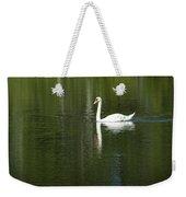 Swan On Wintergreen Lake Weekender Tote Bag